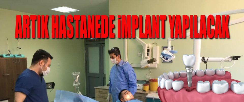 ADSM'de diş implantı uygulaması başladı