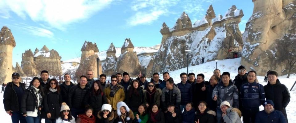 Çinli heyet Kapadokya'yı gezdi