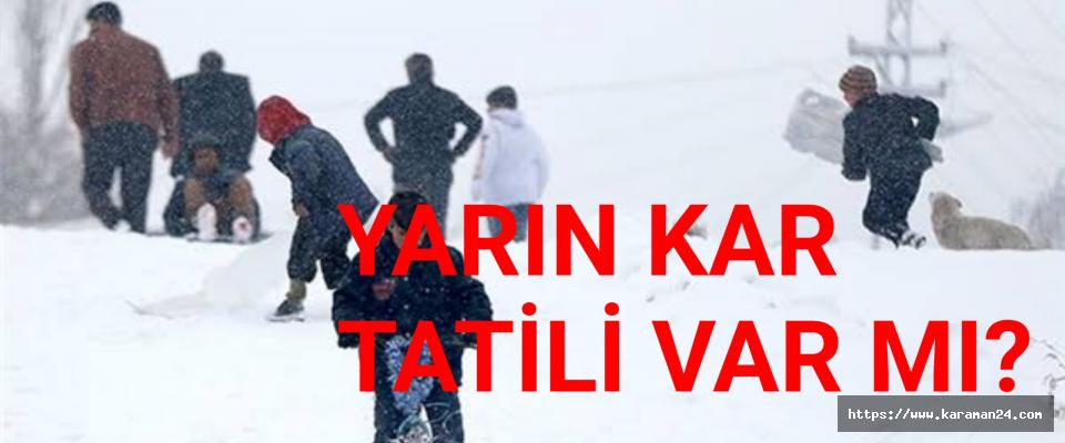 Karamanda Tatil Olan Okullar
