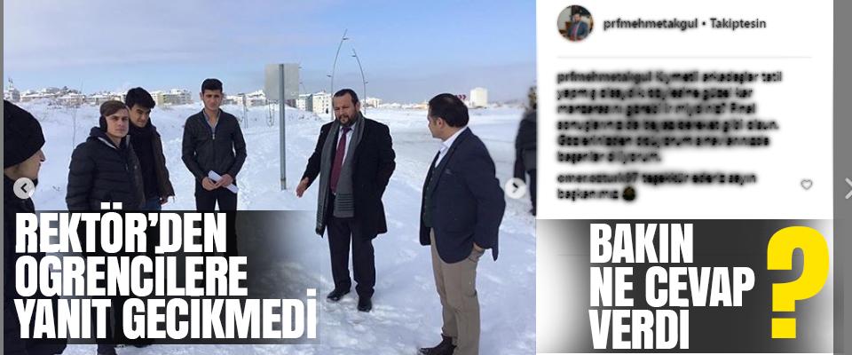 Rektör Akgül'den Kar Tatili Açıklaması