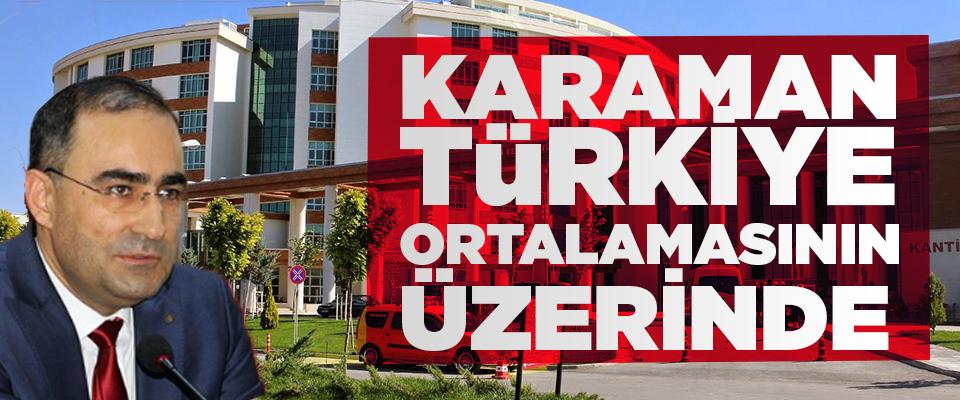 Karaman Türkiye Ortalamasının Üzerinde