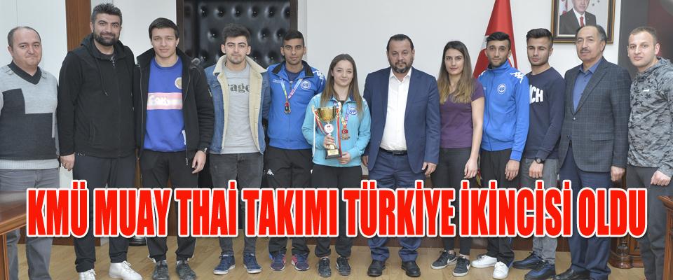KMÜ Muay Thai Takımı Türkiye İkincisi Oldu