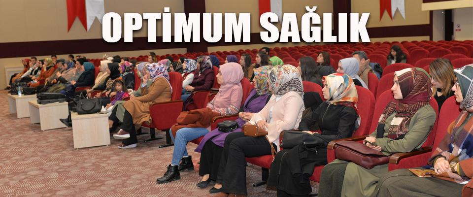 KMÜ'de 'Optimum Sağlık Eğitimi' Verildi