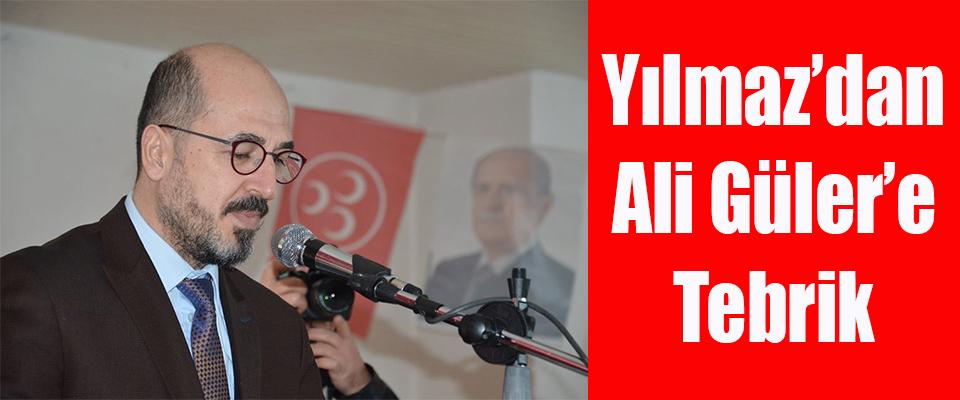 Başkan Yılmaz'dan Ali Güler'e tebrik