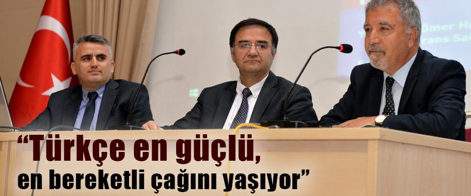 """""""Türkçe'nin Geleceği"""" Paneli"""