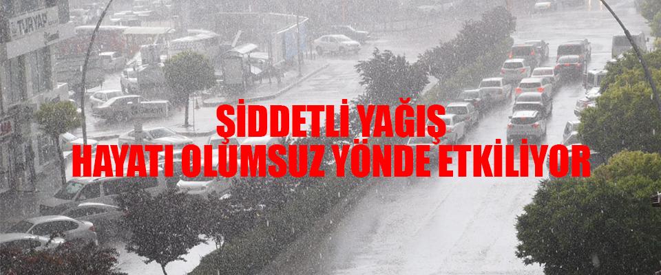Karaman'da Sağanak Yağış!
