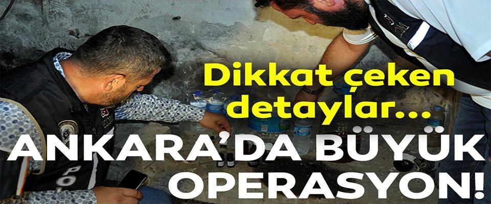 Ankara'da sahte içki operasyonu: 19 gözaltı