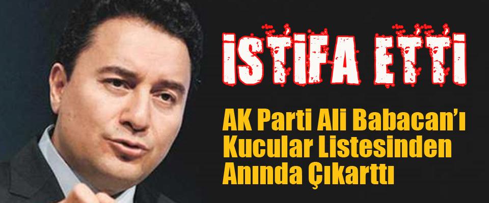 Babacan İstifa Etti, AK Parti Sildi..