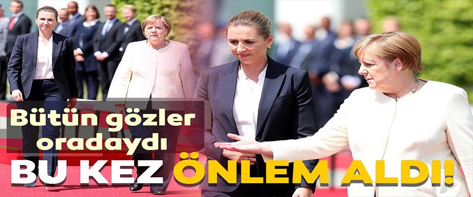 Merkel'in titreme nöbetine 'sandalye' önlemi