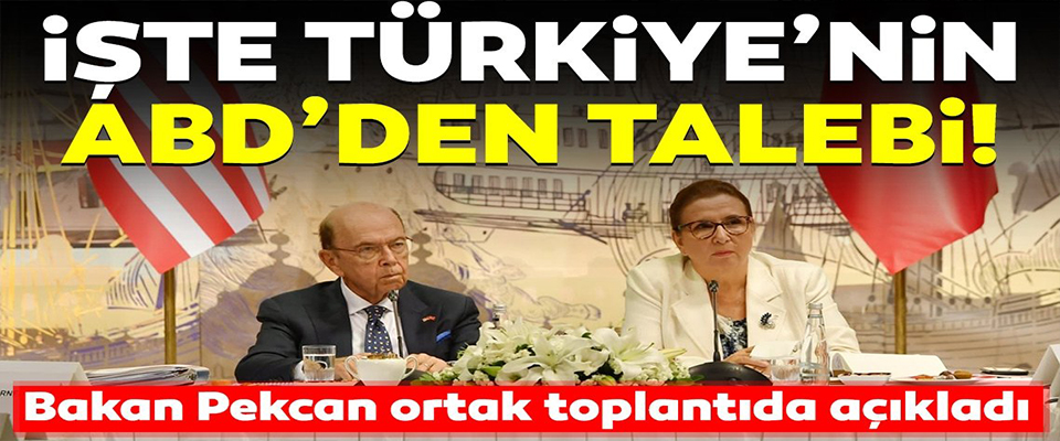 İşte Türkiye'nin ABD'den Talebi!