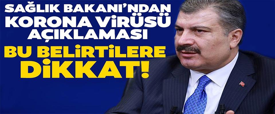 Fahrettin Koca'dan Korona virüsü açıklaması!