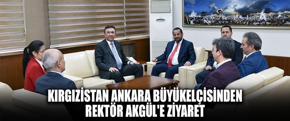 Kırgızistan Ankara Büyükelçisinden Rektör Akgül'e Ziyaret