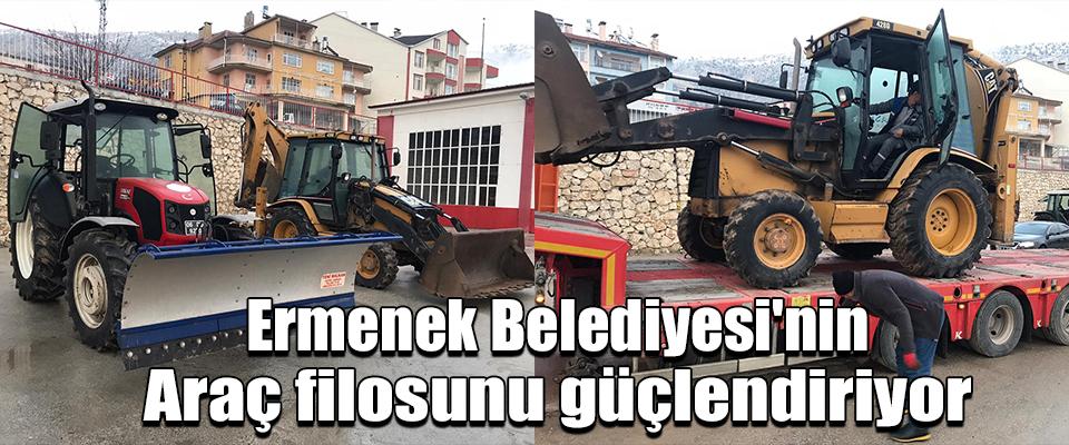 Ermenek Belediyesi'nin araç filosunu güçlendiriyor