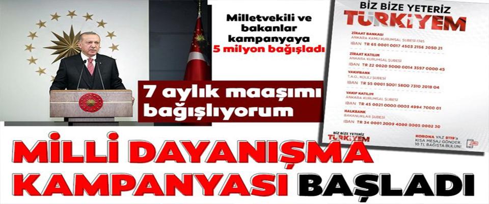 Başkan Erdoğan 7 aylık maaşını bağışladı!