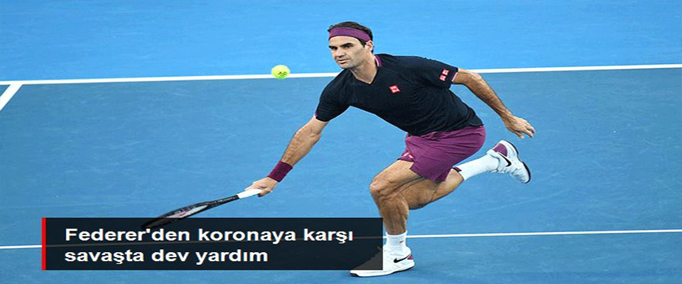 Federer'den koronaya karşı savaşta dev yatırım!
