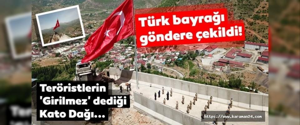Türk bayrağı göndere çekildi!