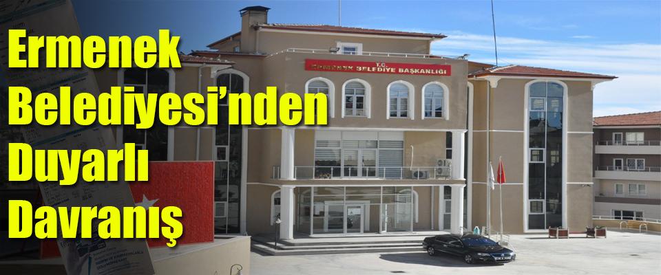 Ermenek Belediyesi'nden Duyarlı Davranış
