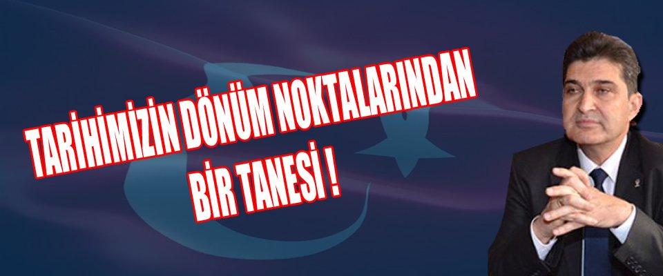 AK Parti İl Başkanı Nazmi ÜNLÜ#039;nün 19 Mayıs Atatürk#039; ü Anma Gençlik ve  Spor Bayramı Mesajı