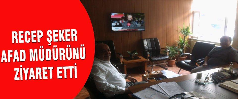 AK Parti Karaman Milletvekili Dr.Recep ŞEKER, İl Afet ve Acil Durum Müdürü Mehmet GÜMRAHı makamında ziyaret etti.