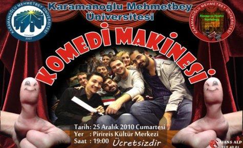 Cumartesi Günü Komedi Tiyatro Gösterisi Düzenlenecek.