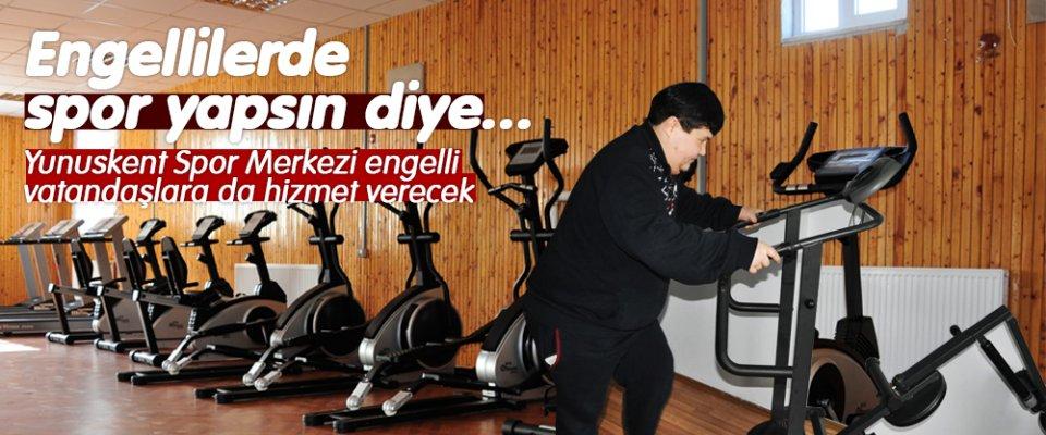ENGELLİLERDE SPOR YAPSIN DİYE...
