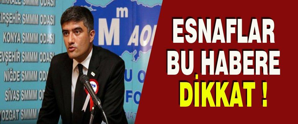 ESNAFLAR DİKKAT