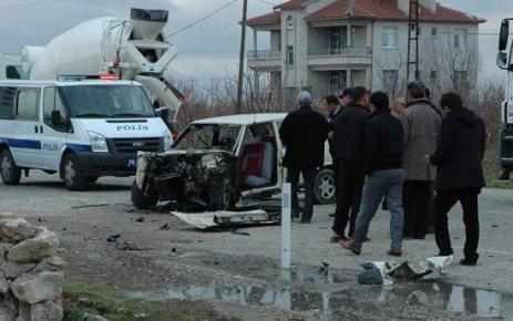 İki Otomobil Kaza Yaptı 5 Yaralı