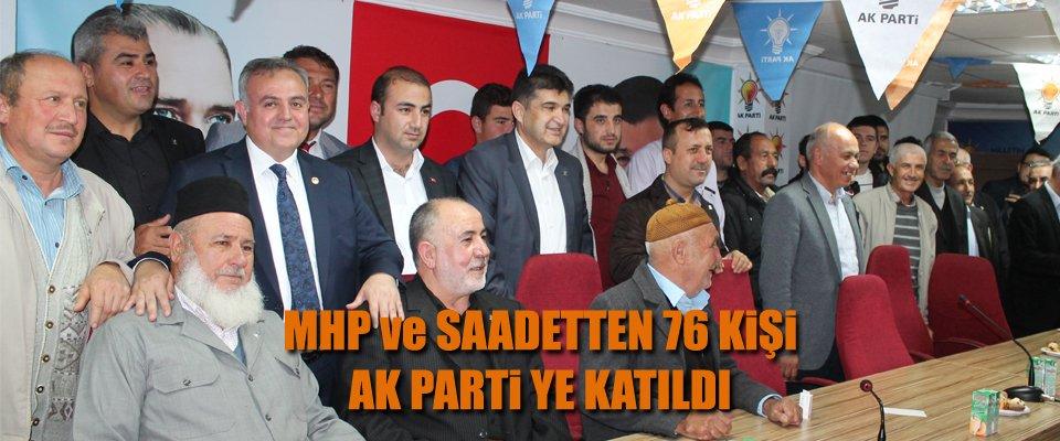 KARAMAN AK PARTİ'ye 76 KİŞİ KATILDI