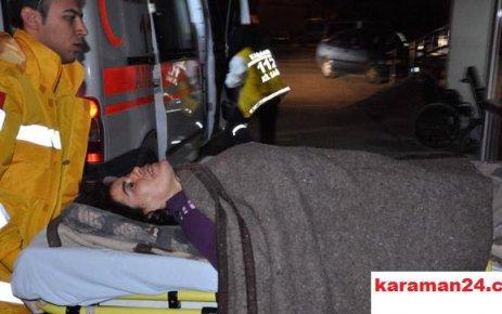 Karaman'da Bıçaklı Kavgada 1 Kadın Yaralandı