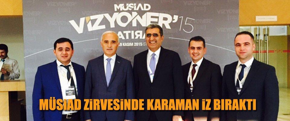 KONUK MÜSİAD VİZYONER'15 ZİRVESİNE KATILDI