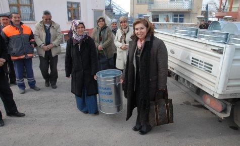 KÜLLERİN AYRI TOPLANMASI PROJESİ SAKABAŞI MAHALLESİ'NDE BAŞLADI