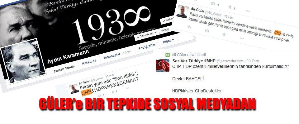MHP ADAYINA CHP'li VATANDAŞLARDAN TEPKİ