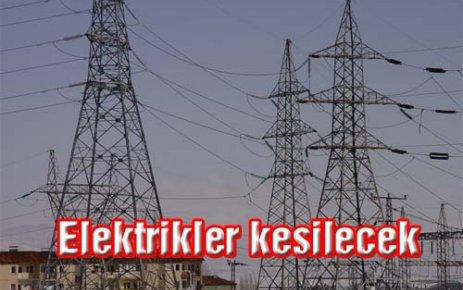 Pazar Günü Elektrik Kesintisi Var