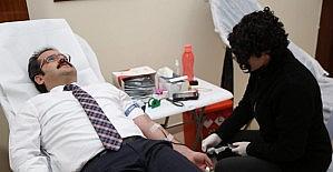 İl Özel İdare personeli kan bağışladı