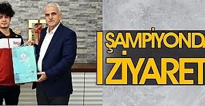 Türkiye Şampiyonu Judocudan İl Müdürü Kuntoğlu'na Ziyaret