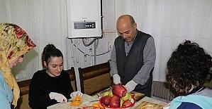 Diyeti için araştırdı evinde meyve cipsi üretmeye başladı