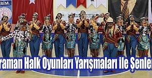 Karaman Halk Oyunları Yarışmaları ile Şenlendi
