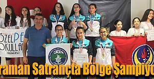 Karaman Satrançta Bölge Şampiyonu
