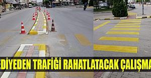Belediyeden trafiği rahatlatacak çalışmalar