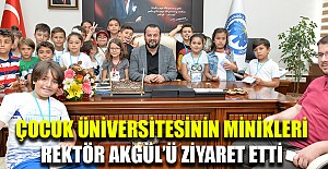 Çocuk Üniversitesinin minikleri Akgül'ü ziyaret etti