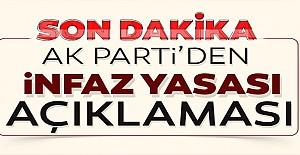 AK Parti'den af yasası açıklaması!