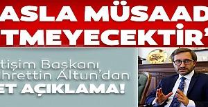 Başkan Altun'dan net açıklama!
