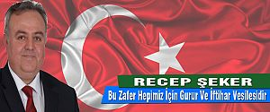 AK PARTİ KARAMAN MİLLETVEKİLİ DR. RECEP ŞEKER'İN  30 AĞUSTOS ZAFER BAYRAMI MESAJI