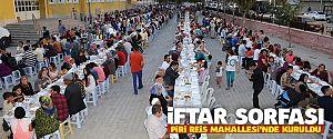 İFTAR SOFRASI PİRİ REİS MAHALLESİ'NDE KURULDU