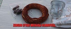 İFTARDA SİMİT HURMA OLUNCA..