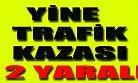 Karaman'da trafik kazası: 2 yaralı