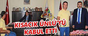 SPOR İL MÜDÜRÜ KISACIK, BAŞARILI ANTRENÖR ÜNLÜ'YÜ KABUL ETTİ