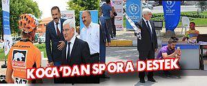VALİ KOCA'DAN, SPORA VE SPORCUYA BÜYÜK DESTEK