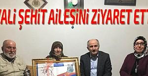 Vali Şehit ailesi ziyaret etti