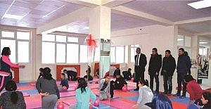 Kangal'da park ve spor salonu çalışmaları